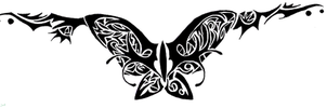 Butterfly Tramp Stamp by Ryvienna