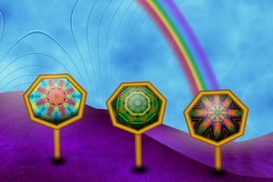 Flower Signs in Rainbow Land by 21citrouilles