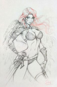 Red Sonja by Dawn-McTeigue