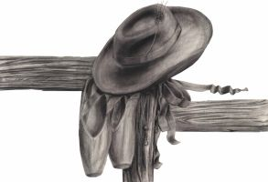 cowboy hat and slippers 2 by KansasArtist