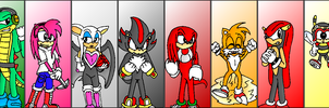 Sonic Characters Mural -pt. I- by dragonsteincole