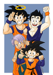 DBZ: Group pose by lewisrockets