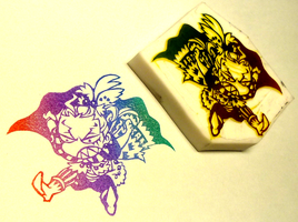 FF6 stamp -kefka2- by mukuuji