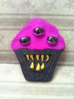 Monster Cupcake Magnet by KatGore