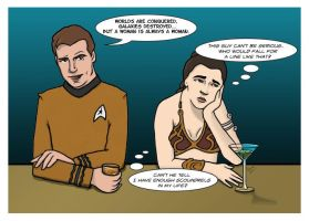 Stars in Bars: Kirk and Leia by bdunn1342