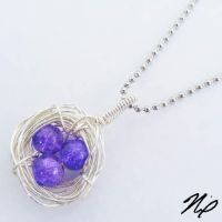 Crackle Glass Nest Pendant by Create-A-Pendant