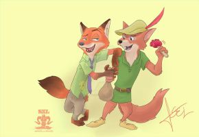 Nick Wilde meets Robin Hood by SEL-artworks