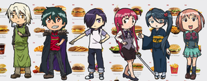 The Devil is a Part Timer chibis by Ginokami6