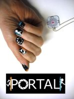Portal Nails by OMG-itz-J3551K4