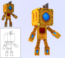 Steam Punk Bot - Low Poly by GhosT-Player