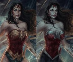 Wonder Woman Closeup by jasric