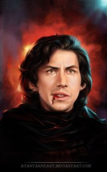 Kylo Ren. Silent rage by AtanvarneArt