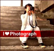 I Love Photograph by sevengraphs