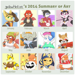 2014 Art Summary by YellowHellion