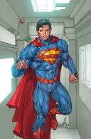 SUPERMAN 15 Cov SUPES colored by SUNNY GHO by DeevElliott