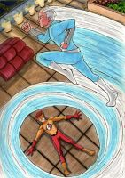 Quicksilver VS Kid Flash by Broken-Endings