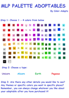 Mlp Palette Adopts by Color-Adopts