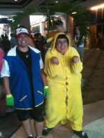 FluffyThePikachu and Ash Ketchum by WolfKnox