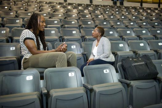 Chamique Holdsclaw and Iyanla Vanzant by lowerrider
