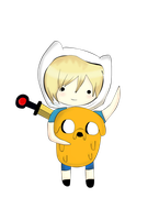 Chibi Finn And Jake by kawaiigirl300