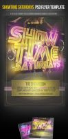 Showtime Saturdays PSD Party Flyer Template by ImperialFlyers