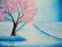 Winter Blossoms. by Darxen