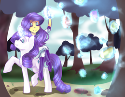 Rarity's obsession by aruva-chan