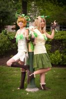 Twin Leafeon Gijinkas Cosplay 1 by firecloak