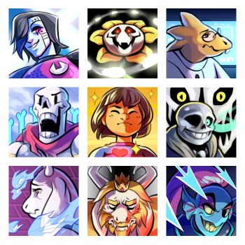 Undertale Icons by Junryou-na-Kokoro
