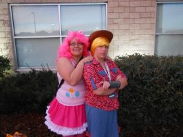 Apple Jack and Pinkie Pie by SolarGear079
