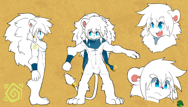 Leo Snowfield [Reference sheet] 2015 by Leoguardian