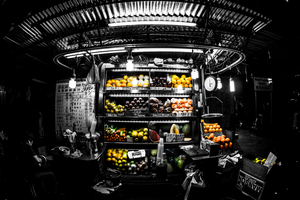 Hong Kong Fruit Stand by TimGrey