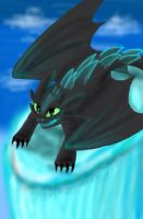 Alpha Toothless by DragonsAndStars