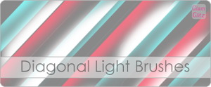 Diagonal Light Brushes by glamglitz