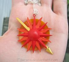 Game of Thrones House Martell Oberyn Necklace 01 by Tsurera