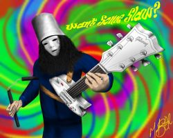 Buckethead - Oh my god Giant Robot by Skullvonavich