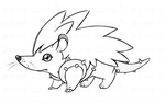 Rough concept 3: Hedgehog Monster by Grand-Corsair