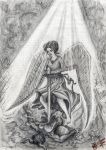 Archangel Michael and devil by christians