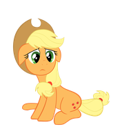 Sad Applejack by Sam-F-Nacman
