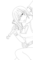 Erza Scarlet Chapter 263 Lineart by Drago686