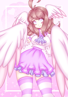 Pastel School Angel Lovette by TheScarletDevil