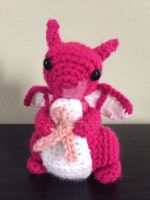 Breast Cancer Awareness Dragon by jedimeg16
