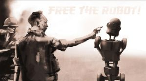 Free The Robot by lukemandieart