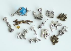 14 Animal Charms FOR SALE by MonsterBrandCrafts