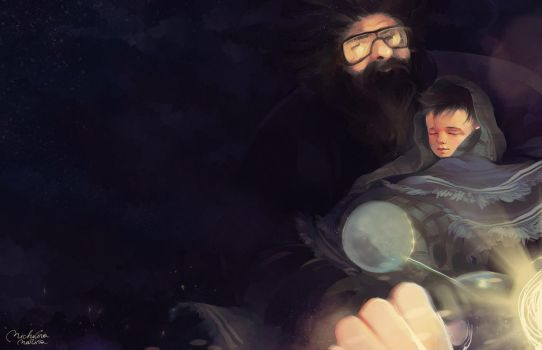Hagrid and Harry by MarinaMichkina