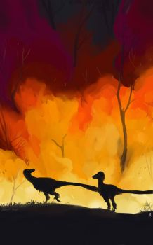 Ancient forest fire by Guindagear