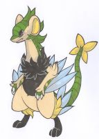 Archeops/Luxray Fusion by Yakalentos