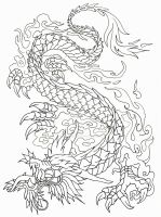Dragon outline by Tattoo-Design