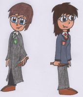 Jon and I at Hogwarts by Piplup88908