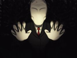 Slenderman smudge fanart by MizoreSYO